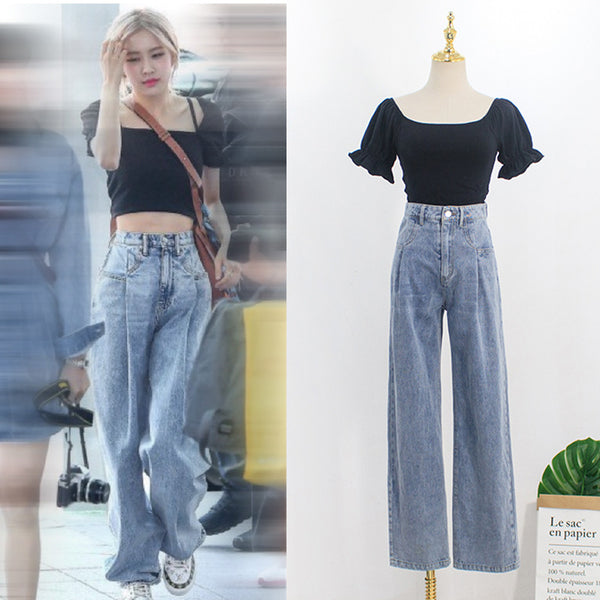 BLACKPINK ROSE Jeans Suit