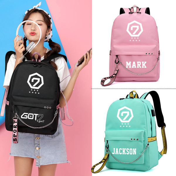 GOT7 USB Charging Backpack