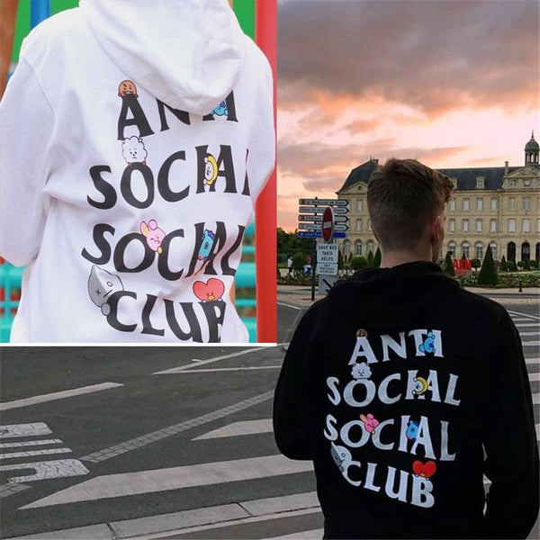BT21 X ANTI SOCIAL SOCIAL CLUB Hoodie - BT21 Store | BTS Online Shop