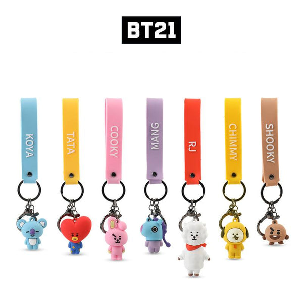 BT21 Cartoon Doll Keychain - BT21 Store | BTS Online Shop