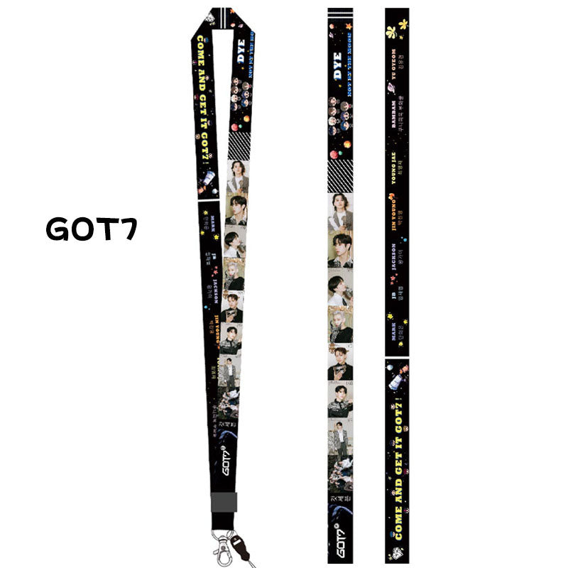 GOT7 DYE Double-sided Mobile Phone Lanyard
