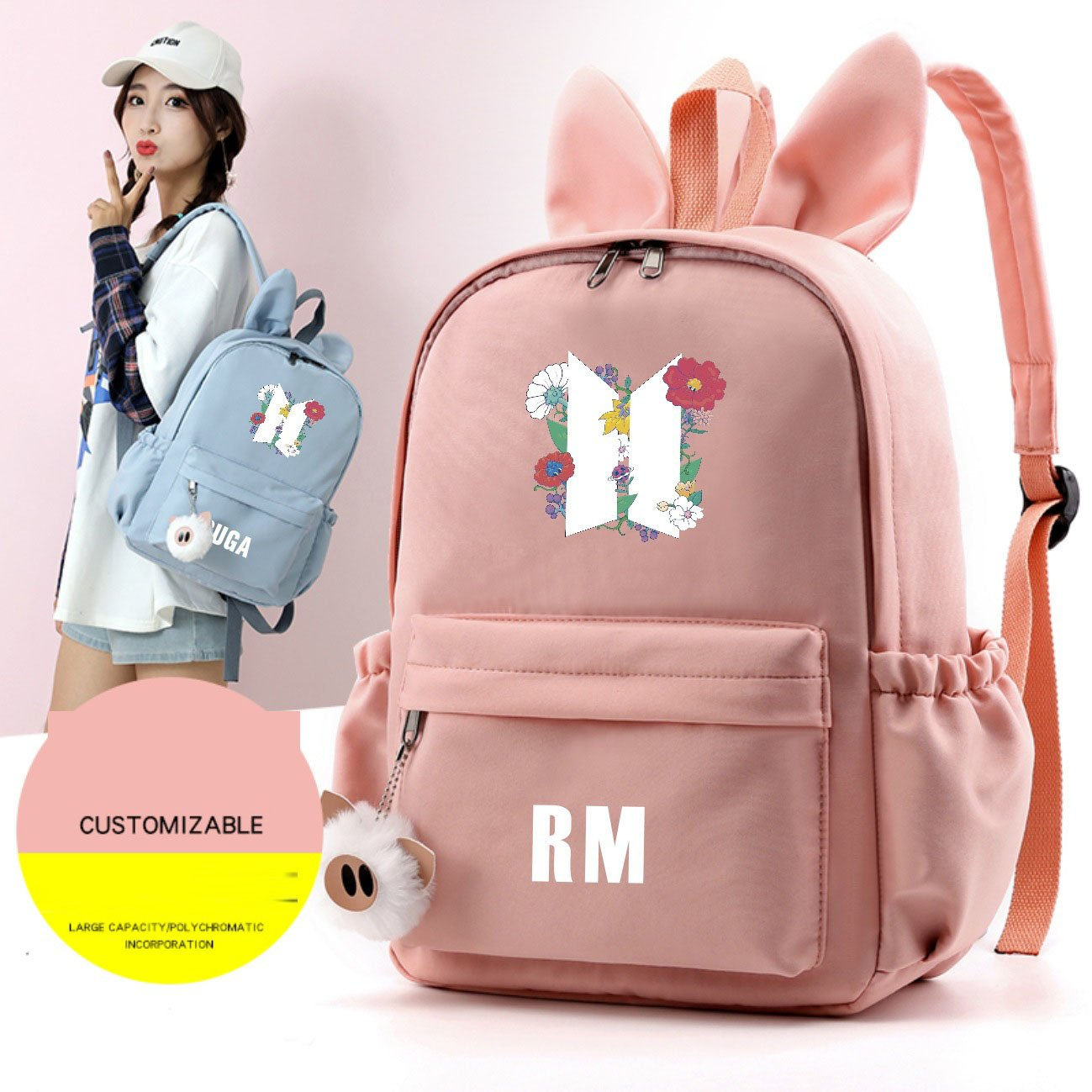 BTS Rabbit Ears Backpack - BT21 Store | BTS Online Shop