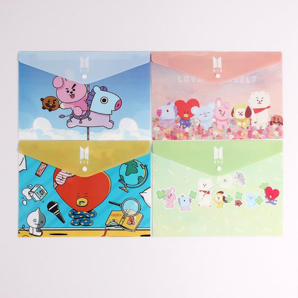 BTS X File holder(Set of 4) - BT21 Store | BTS Online Shop
