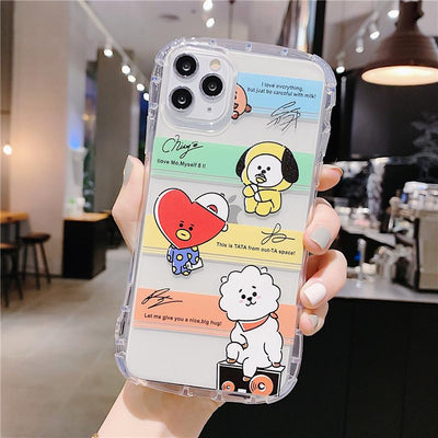 BT21 X Little waist transparent Phone Case - BT21 Store | BTS Online Shop