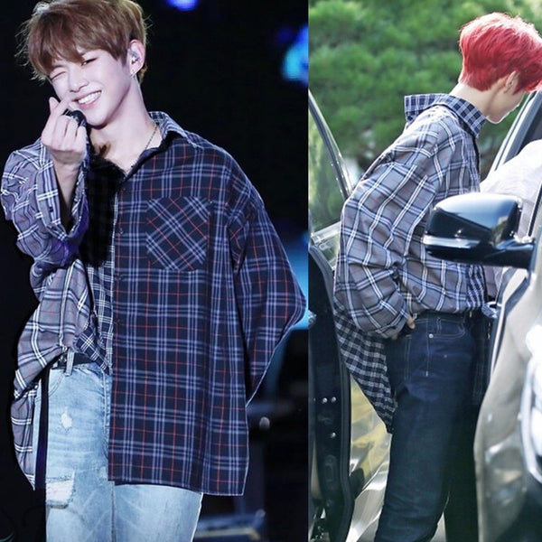 GOT7 Mark Flannel Plaid Shirt