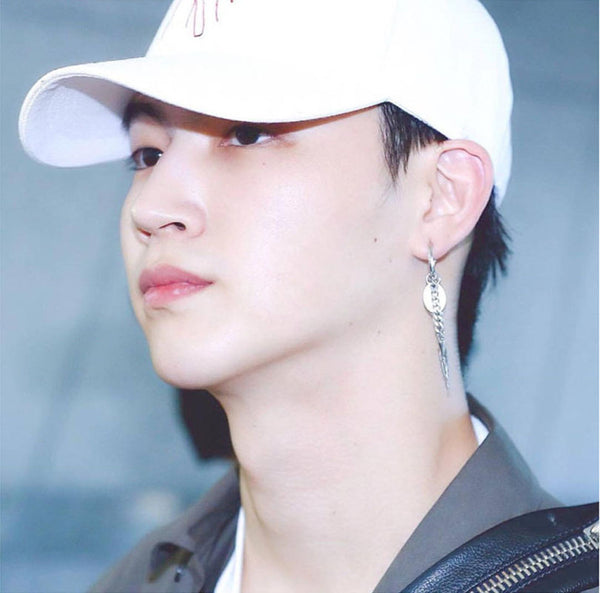 GOT7 Mark Korean Fashion Hip Hop Asymmetric Earrings