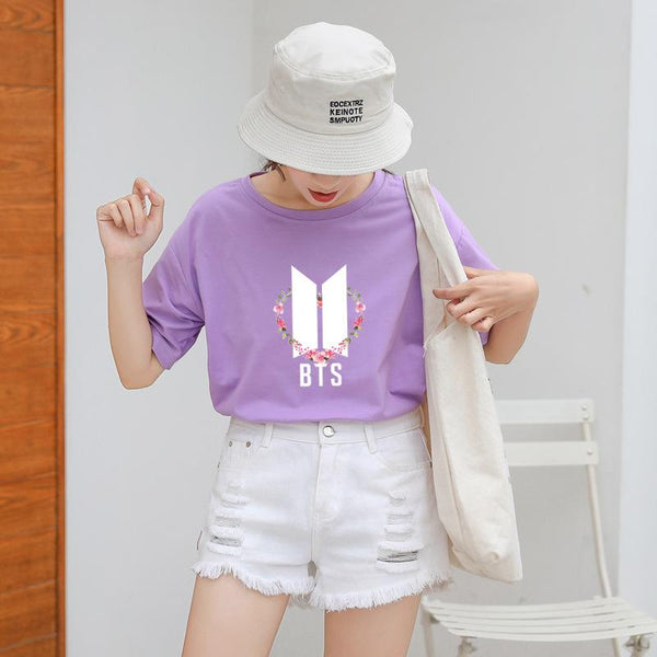 BTS Flower Logo Color T-shirt - BT21 Store | BTS Online Shop