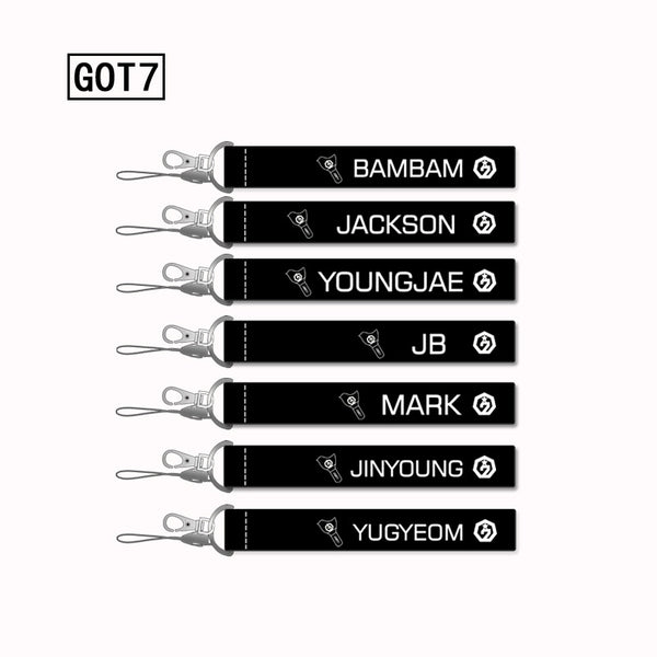 GOT7 Member Name lanyard