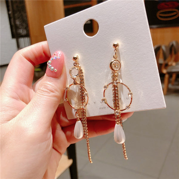 TWICE Geometric ring earrings