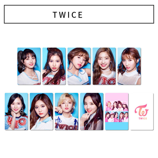 TWICE 10 Sheets mini cards