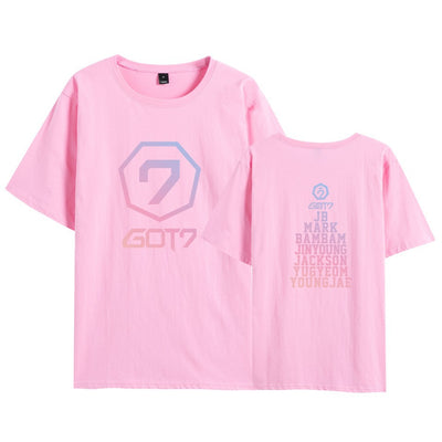GOT7 Gradient printed short sleeve T-shirt