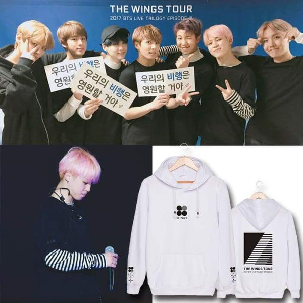 BTS The Wings Tour Classic Hoodie - BT21 Store | BTS Online Shop