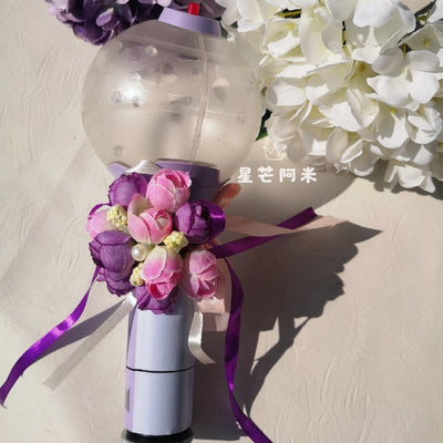 BTS Light Stick ARMY Bomb Purple Sticker&Flower - BT21 Store | BTS Online Shop
