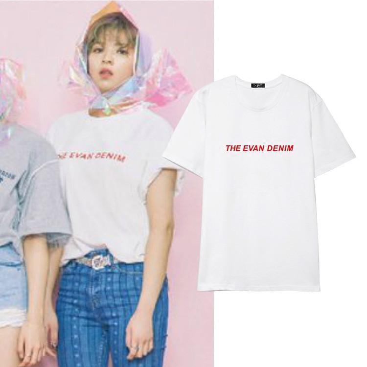 TWICE JUNGYEON 'THE EVAN DENIM' T-shirt