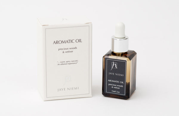 Jaye Niemi Aromatic Oils Precious Woods + Vetiver