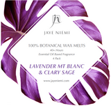 100% Botanical Wax Melts - Lavender Mt Blanc, Valencia & Clary Sage