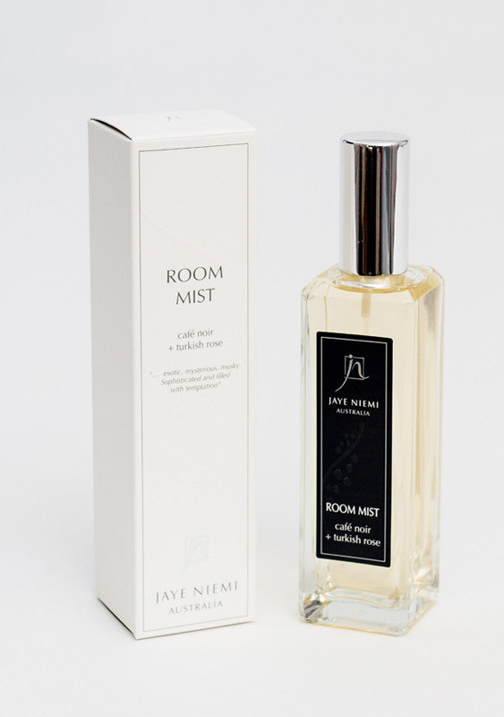 Jaye Niemi Australia room mist Cafe Noir + Turkish Rose