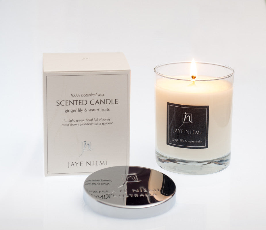 Jaye Niemi Australia Scented Candle Ginger Lily Water Fruits