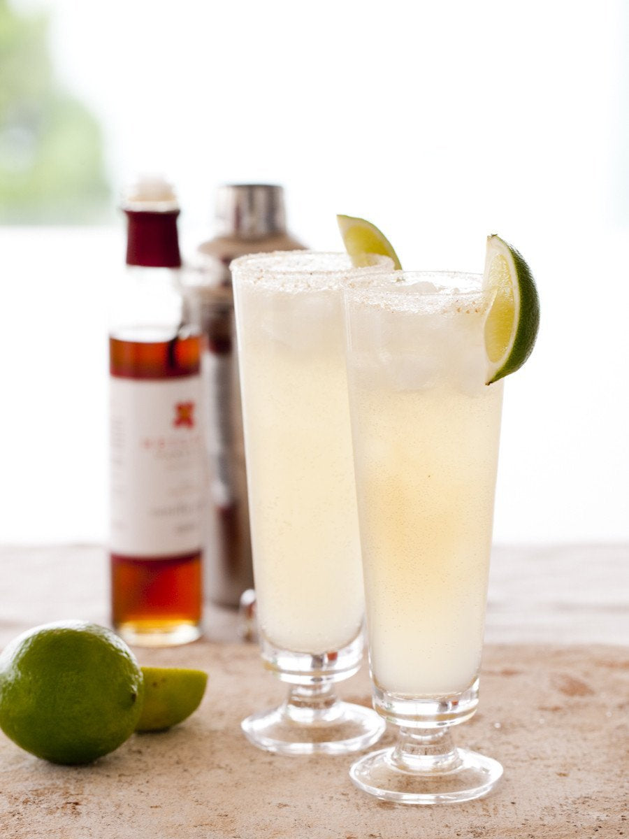 vanilla lime ginger fizz cocktail