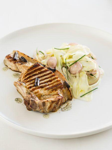 pork and fennel with heilala vanilla