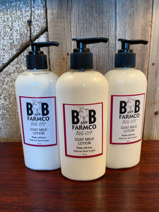 Bug Off Goat Milk Lotion - 8 oz