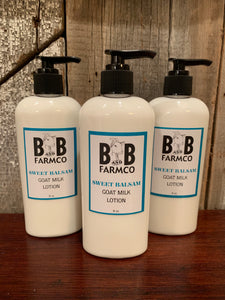 Sweet Balsam Goat Milk Lotion