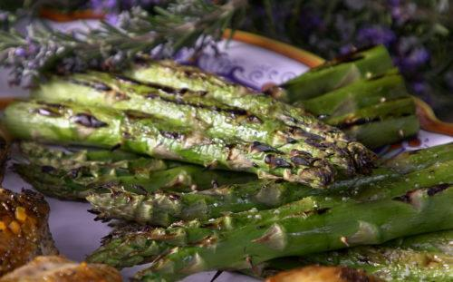 Lemon and Parmesan Grilled Asparagus - Steven Raichlen Recipe #2