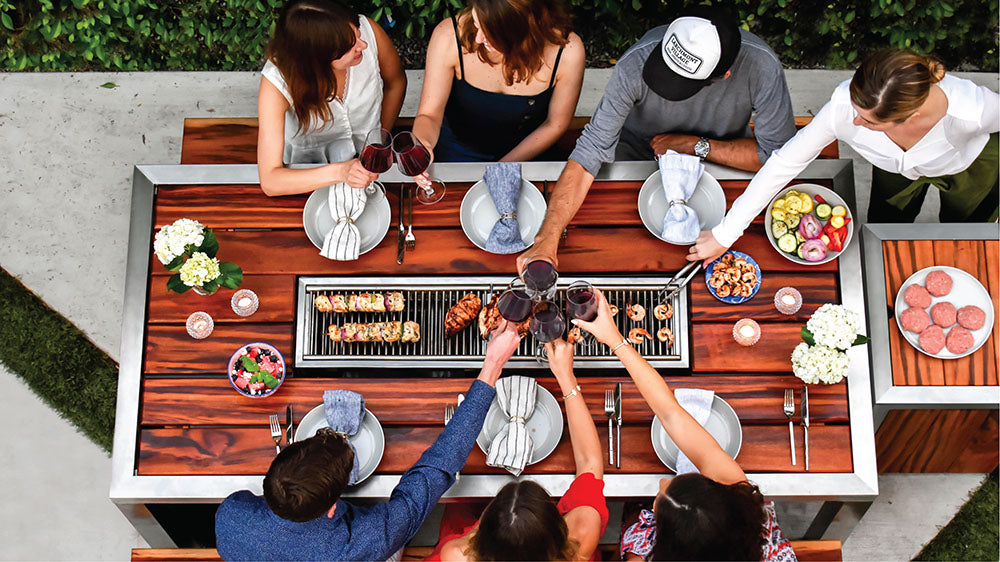 The most beautiful Korean barbecue(barbeque) table for grilling with family and friend