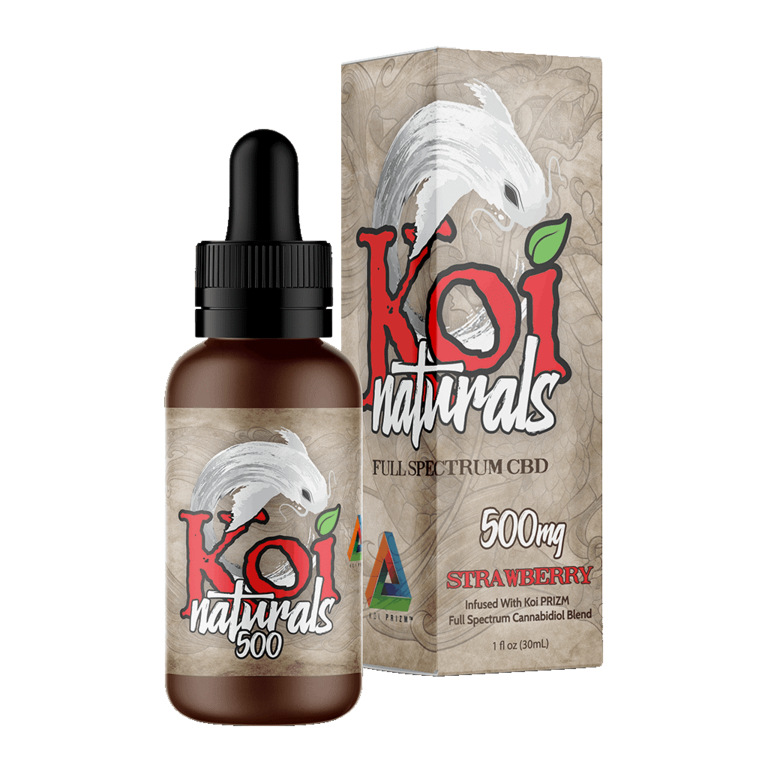 Koi Naturals, Strawberry Tincture 500mg