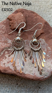 Navajo Genuine Sterling Silver French Hook Spoon Earrings ER102