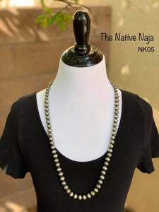 "31"" Sterling Silver Navajo Pearls Necklace NK05"