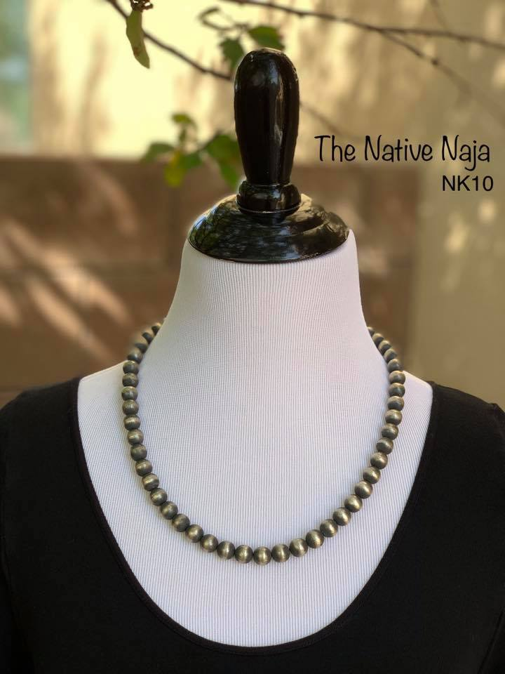"22.5"" Sterling Silver Navajo Pearls Necklace NK10"