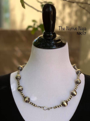 "23.5"" Sterling Silver Navajo Pearls Necklace NK17"