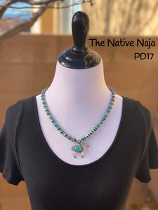 Navajo Campitos Turquoise & Sterling Silver Sheep Pendant PD17