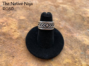Sterling Silver Navajo Band Ring Size 5 1/2 RG50