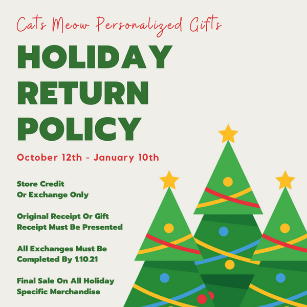 Holiday Return Policy - 2020
