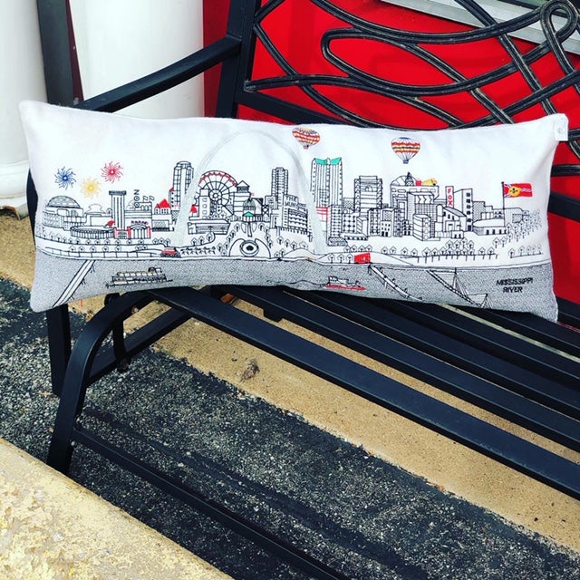 St. Louis Skyline Pillow - Day