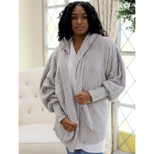 Load image into Gallery viewer, Everest Open Front Hooded Cardigan - Grey