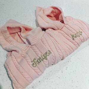Personalized Hooded Baby Sweater