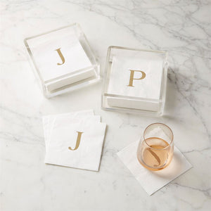 Acrylic Initial Napkin Holder Set
