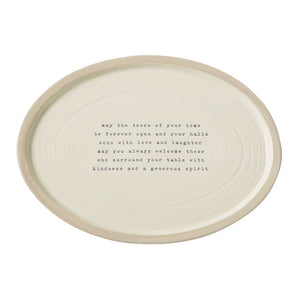 """May The Doors..."" Stoneware Oval Platter"