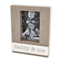 Load image into Gallery viewer, Wood Block Frame - Daddy & Me
