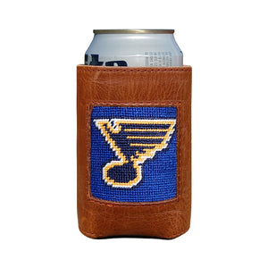 Needlepoint Can Cooler - Blues