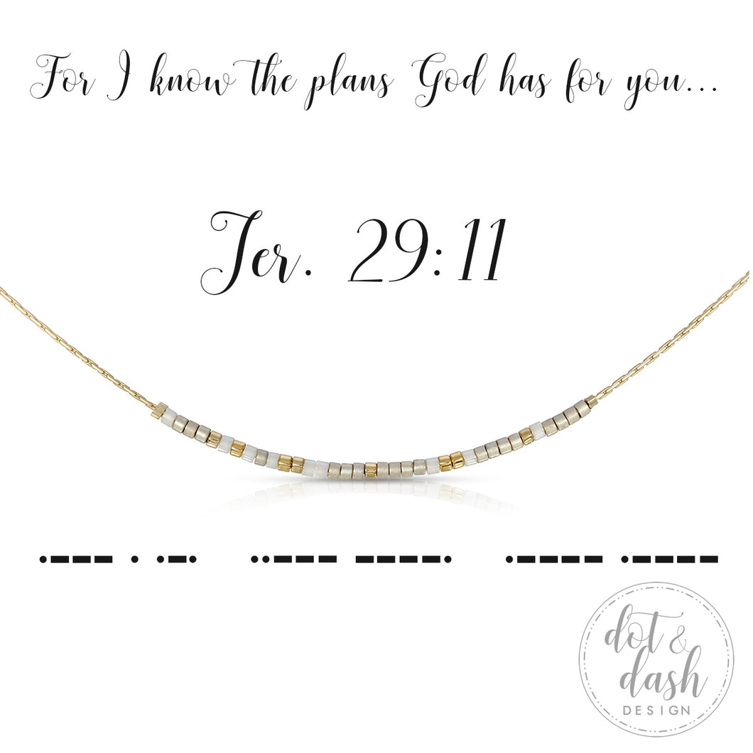 Morse Code Necklace - Jeremiah 29:11