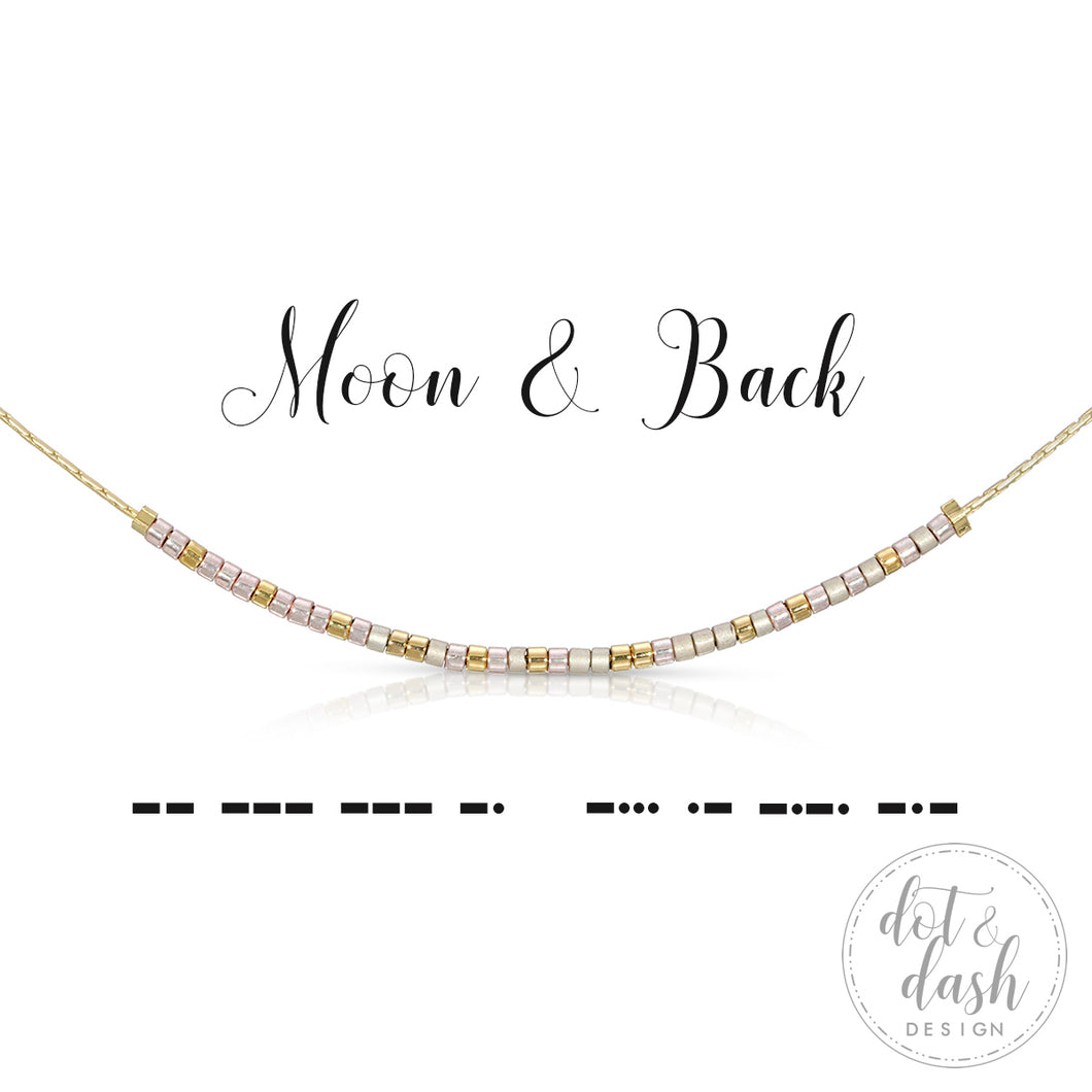 Morse Code Necklace - Moon & Back