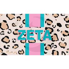 Load image into Gallery viewer, Sorority Flag - Cheetah