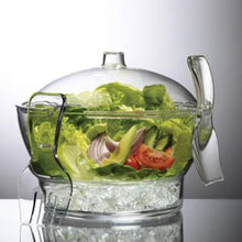 Load image into Gallery viewer, Personalized Acrylic Salad Bowl w/Divider and Salad Hands