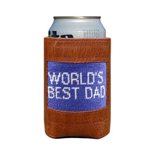Load image into Gallery viewer, Needlepoint Can Cooler - World's Best Dad