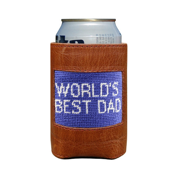 Needlepoint Can Cooler - World's Best Dad