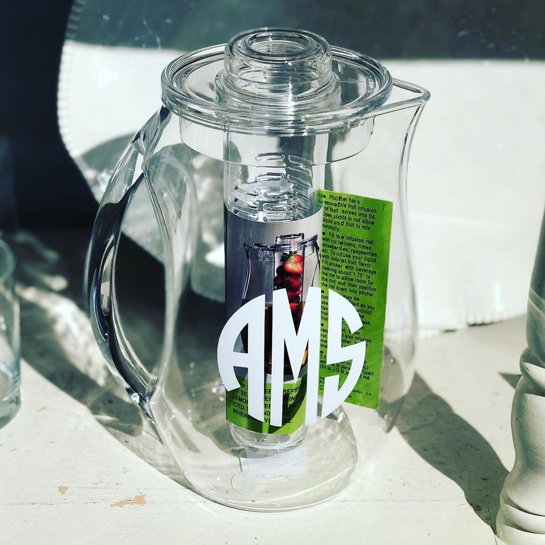 Personalized Acrylic Fruit Infusion Pitcher
